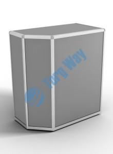 900 X 500 X 900<br> алюминиевый профиль системы «Еврошоп». <br> ЛДСП 16 мм серого цвета<br> 1 полка в накопителе из ЛДСП 16 мм